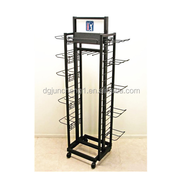JC17529 Floor Stand Rolling Cap Tie Belt display rack
