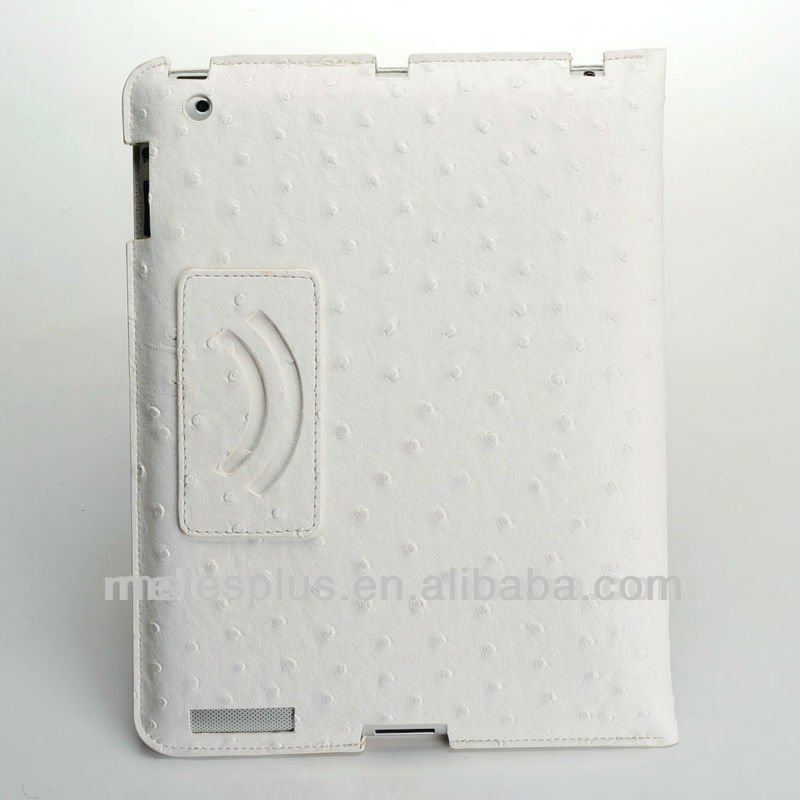 factory price case for ipad3 360 rotating magnetic pu leather case smart cover stand