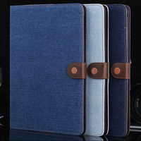 2014 new product jean design flip stand tablet leather case for iPad air