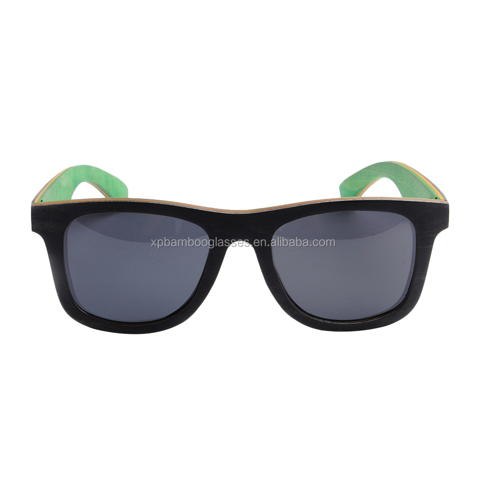 replica brands handmade custom logo skateboard wood polarized sunglasses