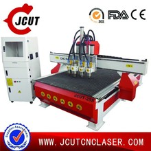 Sale wood Working CNC router/3d CNC machine JCUT-25S(pneumatic tool change three heads)