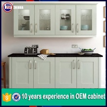 Guangzhou modular white shaker wood kitchen cabinet