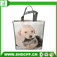 funny cartoon pp shopping non woven bag for souvenir