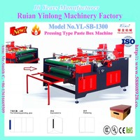 YL-SB-1300 Type Electric Pressing Paste Box Machine which is latest developed based on the user's small orders need