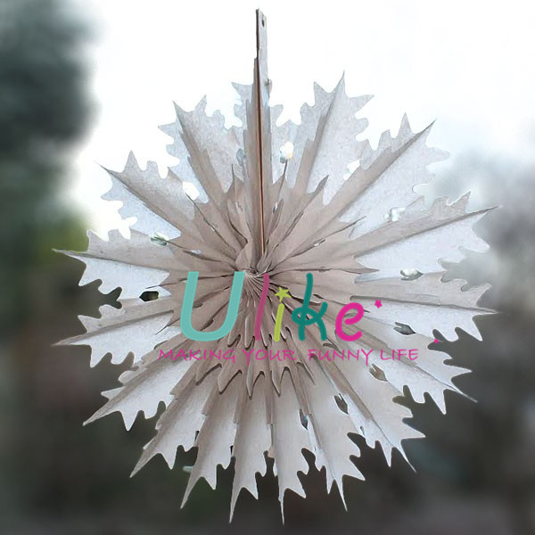 Decorate Your Own Paper Fans Xmas Snowflake Decor Fan