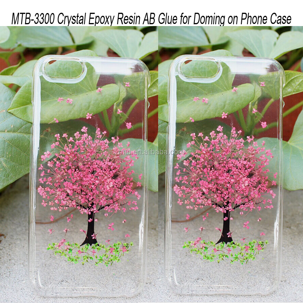 Hard Clear Liquid Epoxy Resin for Doming on Phone Case with Dried Flowers