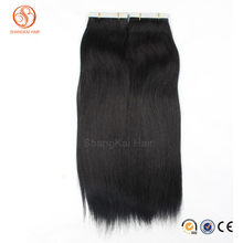 Wholesale price top grade 100% unprocessed Brazilian PU tape in hair extension Russian african American human