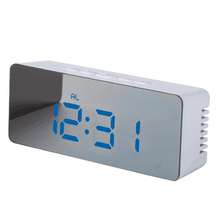 Table digital clocks 12H/24H alarm led mirror clock with snooze function_HL4240