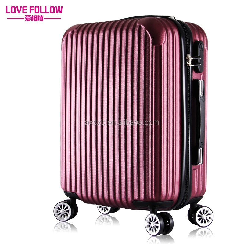 2017 royal ABS trolley Luggage with Cool outlooking for travel ---Love follows you on your journey