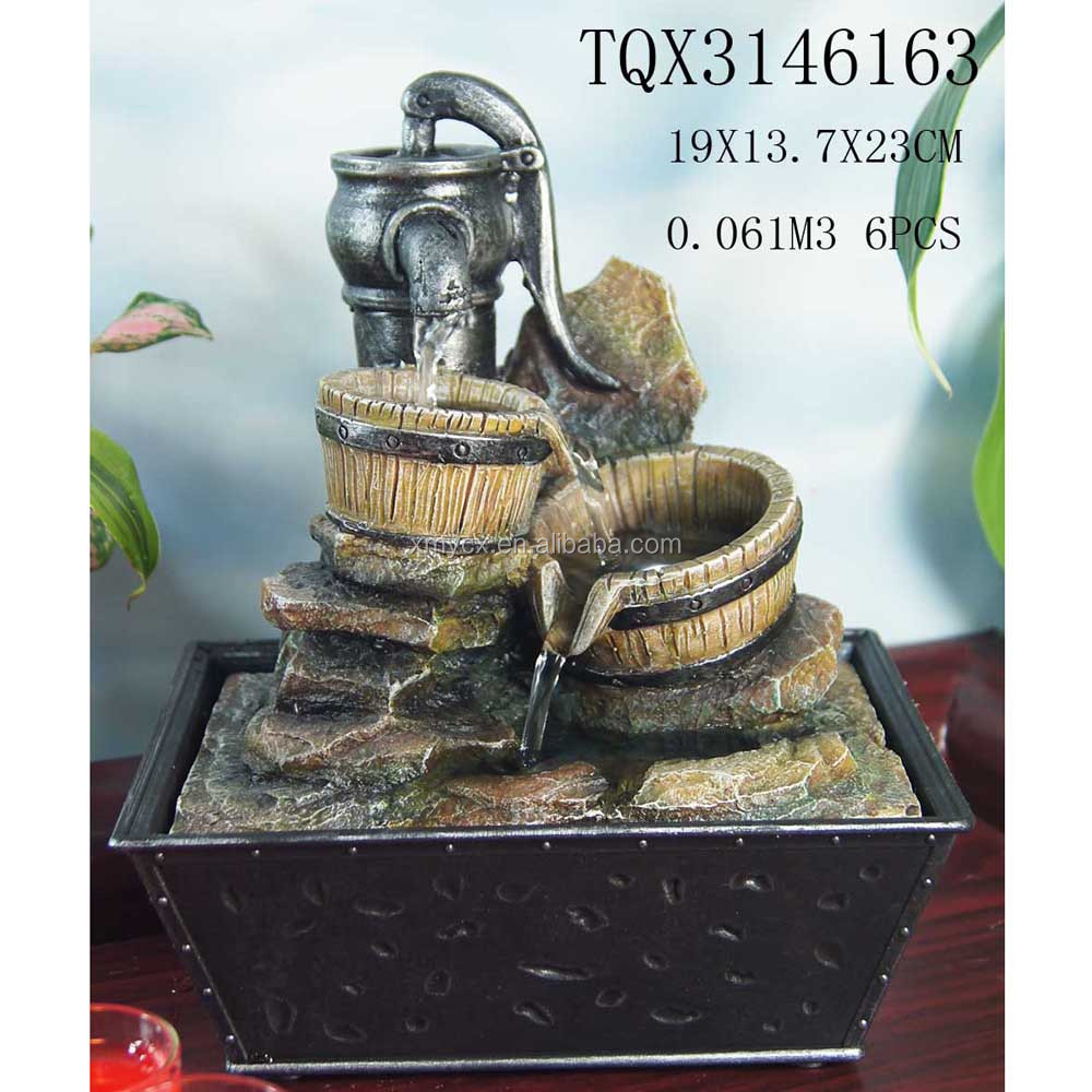 Handmade resin tabletop small decorative water fountains