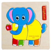 3D Stereo Children Wooden Jigsaw Piece Animal Puzzle