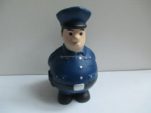 2016 New Promotional Gift,police man Shaped Foam Stress Ball,stress reliever toy