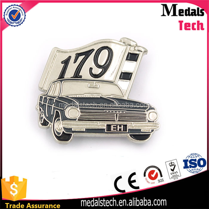 Best Selling Item Die Casting Customized Custom Metal 3D Car Shape Badges Emblem