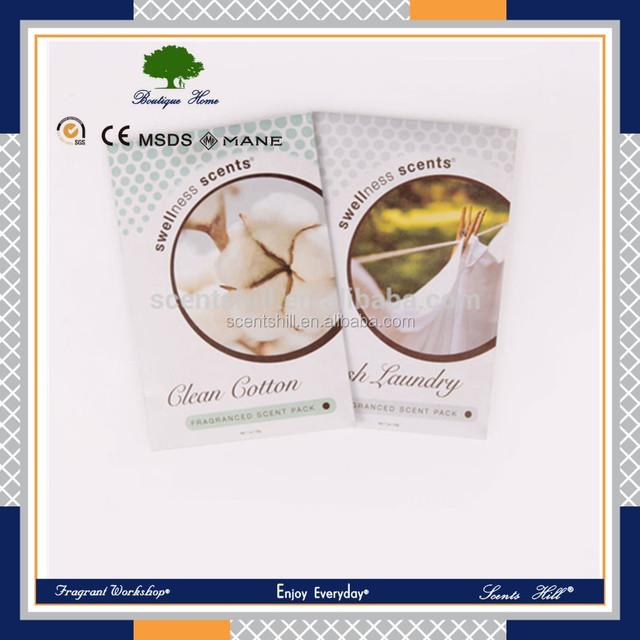 Factory price kitchen appliances hanging envelope en perfume& fragrance car freshener paper scented sachet