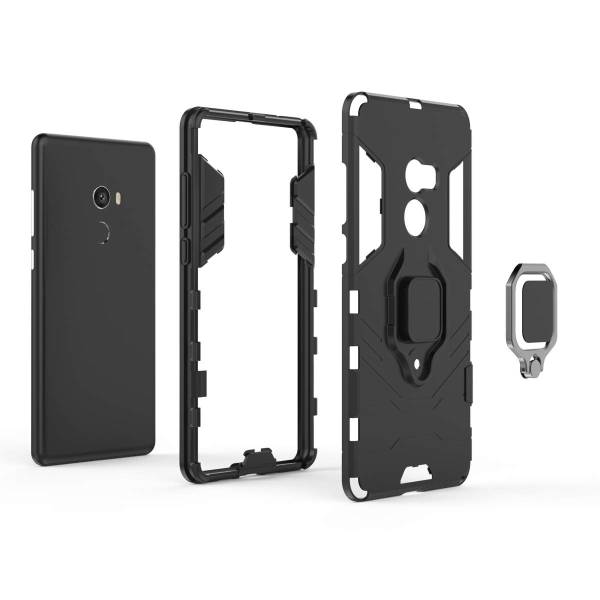 Phone case with 360 degree ring holder magnet cell phone case for Xiaomi MIX 2