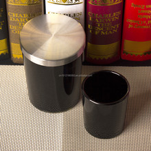 China Supplier Matte Black Candle Jar with Iron Lid Glass Candle Stand