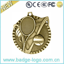 Custom High Quality Souvenir Gold Tennis Ball Sports Metal Medal
