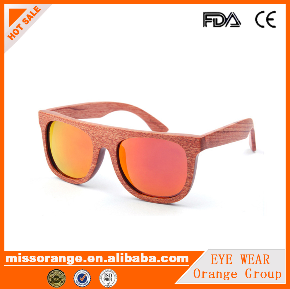 OrangeGroup china 2018 retro vintage fashion wooden sunglasses for women