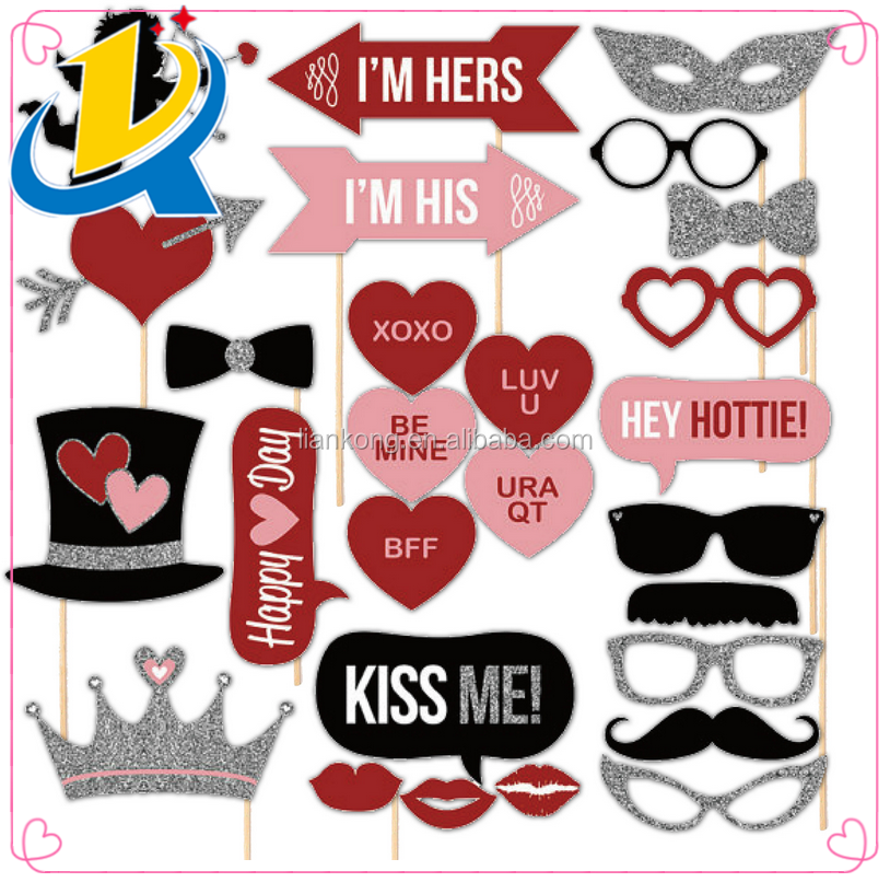 27pcs Funny Party Favor Wedding Photo Booth Props