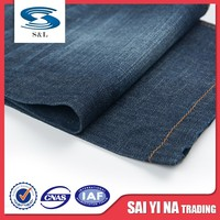 100% pure indigo cotton spandex denim fabric for relaxed straight jeans