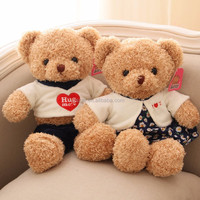 Custom your logo teddy bear toy/lovely beautiful bear dolls for girl/plush top quality toy