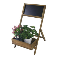 vintage foldable decoration wood plant flower display stand with chalkboard