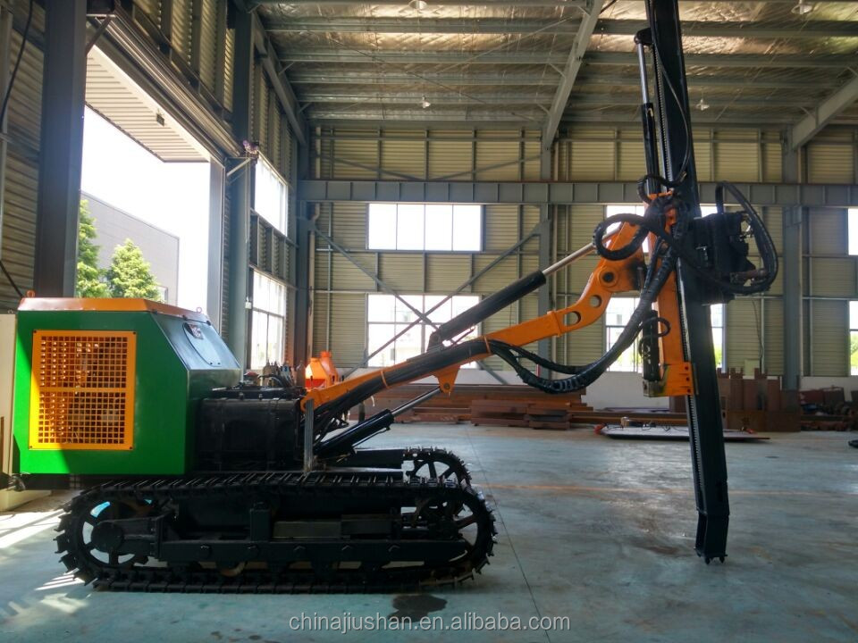 Drilling Machine and Drilling Equipment,drive power head Crawler Drilling Rig