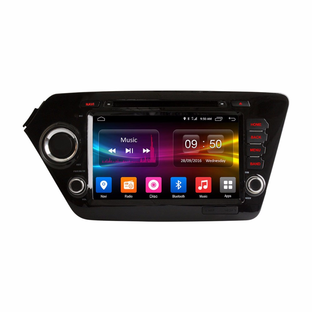 for K/ia k2 RIO 2010 - 2015 CAR DVD player car audio stereo GPS Quad Core screen mirroring RDS touch screen
