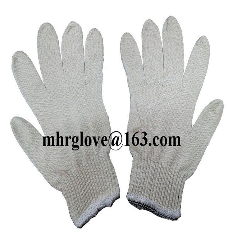 Brand MHR best selling 7gauge knitted hand glove yellow dots plastic dotted glove
