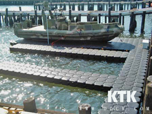 floating dock plastic pontoon walkway
