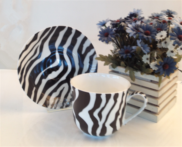 new zebra-stripe coffee set,coffee cup &saucer.