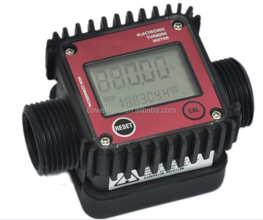 K24 Electric Turbine Flow Meter/digital display meter/diesel gasoline meter