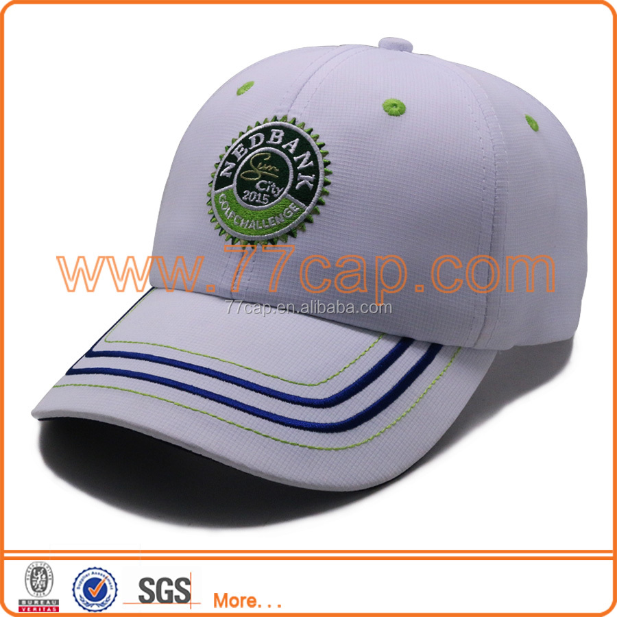 Hard flat embroidery logo strip embroidering fashion military style baseball hat
