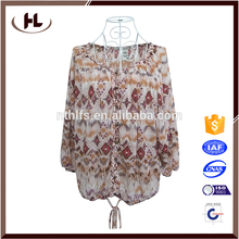 High quality long duration time cotton blouse neck design