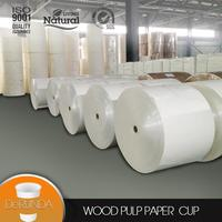 paper cup raw material 150/160/170gsm pe coat paper with 40 HQ shipment