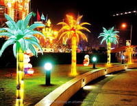 2015 Hot selling China supplier festival outdoor Artificial decorate IP65 LED artificial palm tree