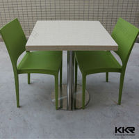 Full inspection solid surface restaurant dining tables and chairs