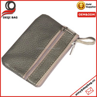 hot selling pu leather men coin pouch key change phone bag