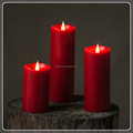 TECMO modern series flameless moving wick led candle with remote