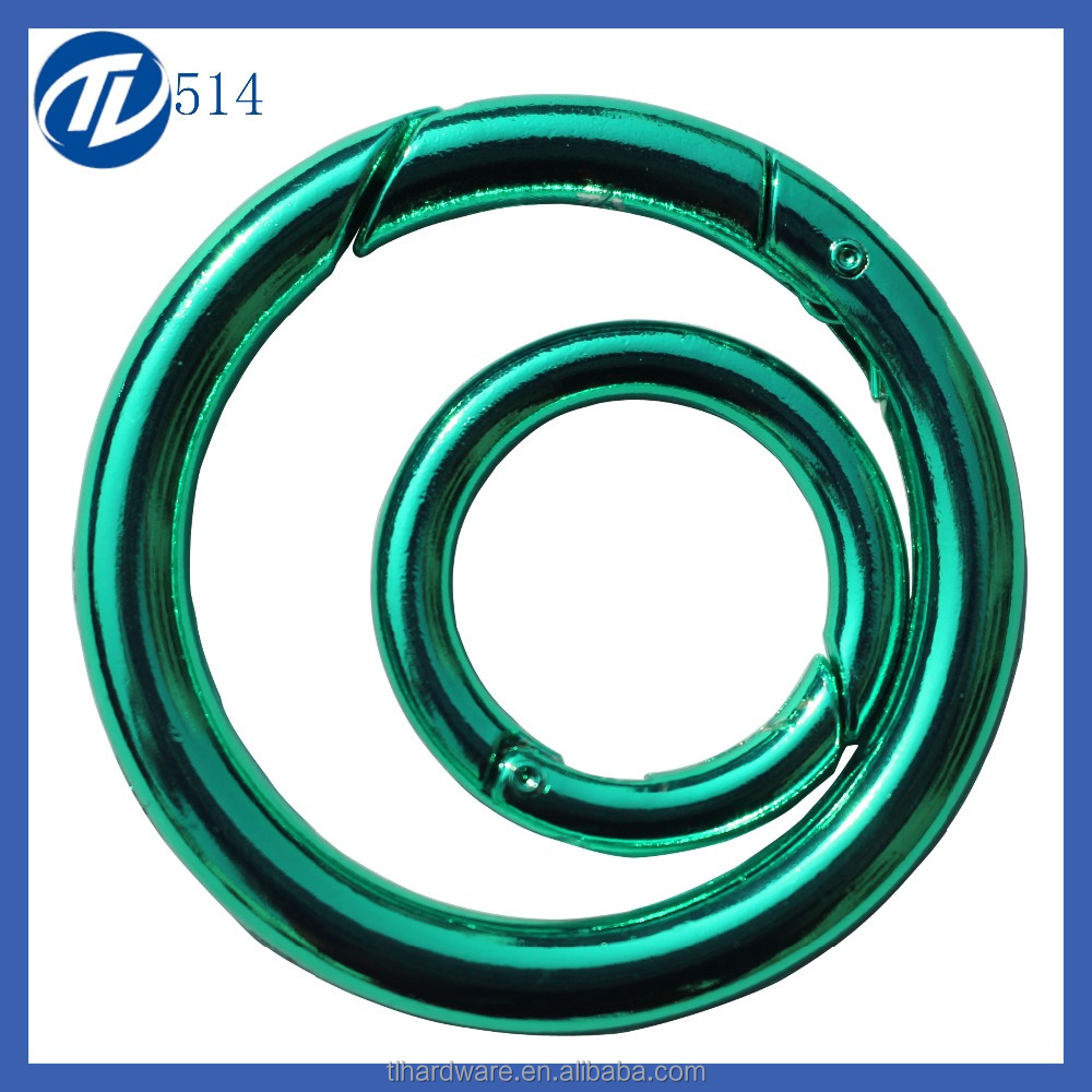Various type iron decorative metal ring bulk copper metal o ring for handbag in stock