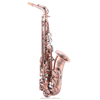 MAS-701 Antique red copper alto saxophone from China factory