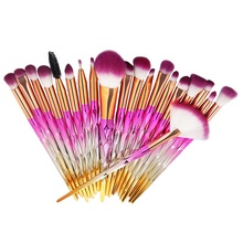 20 pcs personalized neon makeup <strong>brushes</strong> with custom logo