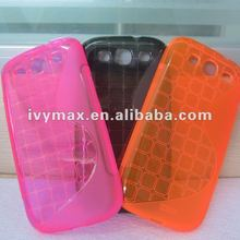 2012 hot Clear TPU S-shaped Case Skin Case Cover for Galaxy s3 case new
