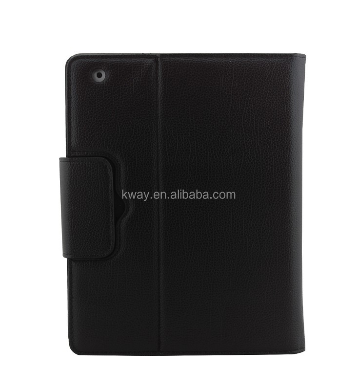 For Apple iPad 2 3 4 Magnetically removable Detachable ABS Bluetooth Keyboard Portfolio Folio PU Leather Case Cover