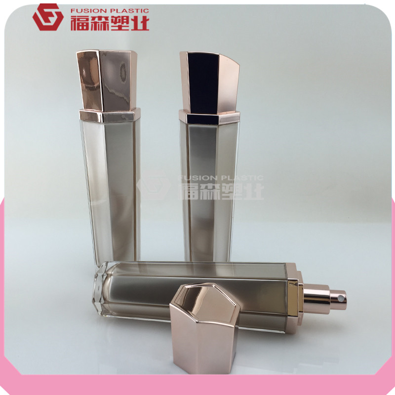 clear special cap lotion cosmetic spray bottles skin milk container