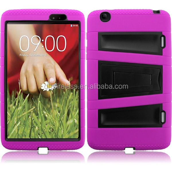 mobile phoen accessories kick stand symbiosis case for LG G PAD 8.3 V500