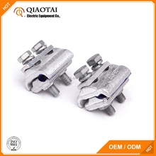 Two bolts aluminium copper parallel groove clamps