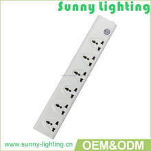 Hot sales Multi-function 3/4/5/6 ways Extension Sockets/power switch with difference type plug