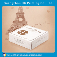 Custom printing recycle cardboard white cake boxes