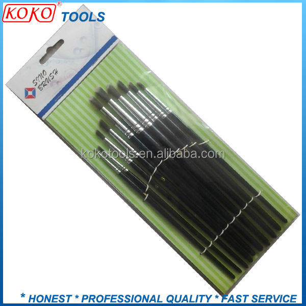 PET plastic soft wire professional makeup artists brush